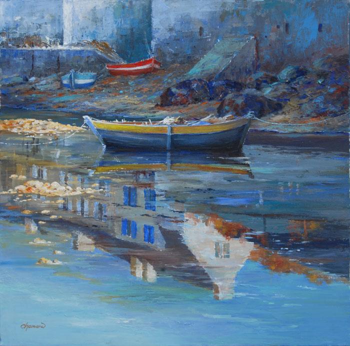 Barque au reflet