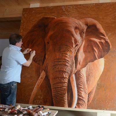 travail sur l'éléphant XXL