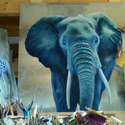l'éléphant XXL bleu