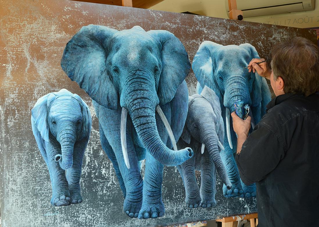 travail sur la famille éléphant