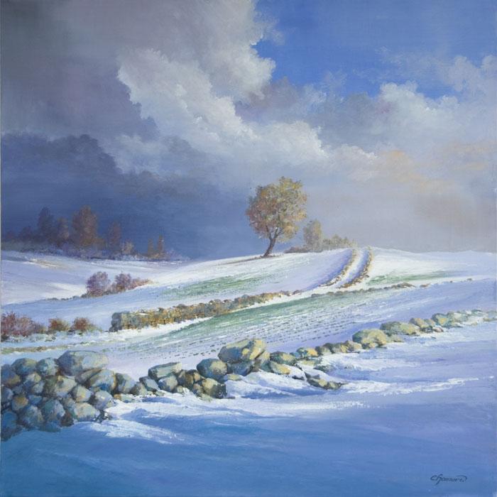 Neige et chemin