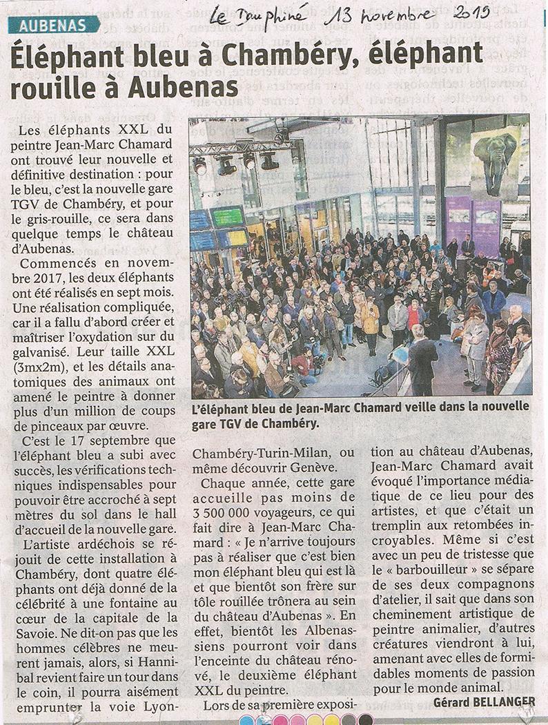 Le Dauphiné  13 novembre 2019
