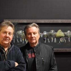 avec le sculpteur jacques Wetterer