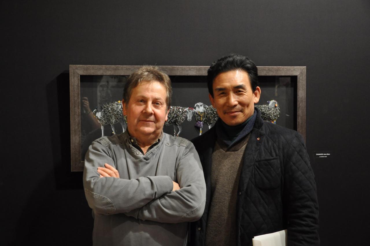 avec le peintre Koréen Tae-Hong Min